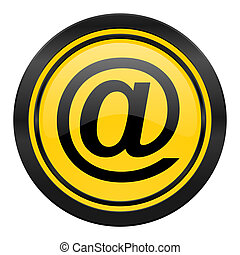 email icon, yellow logo