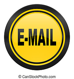 email icon, yellow logo,