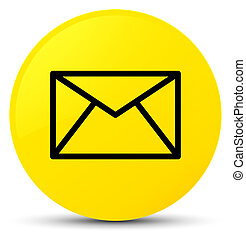 Email icon yellow round button