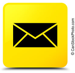 Email icon yellow square button