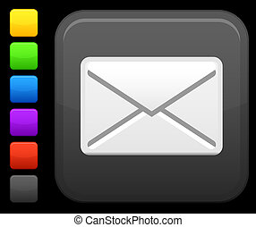 email, icona, su, quadrato, internet, bottone