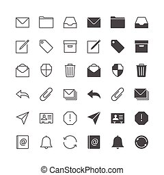 Email icons, included normal and enable state.