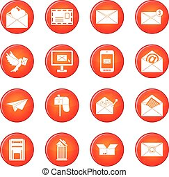Email icons vector set