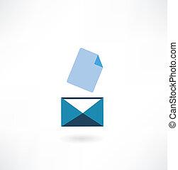 email, ikon