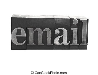 email in metal type