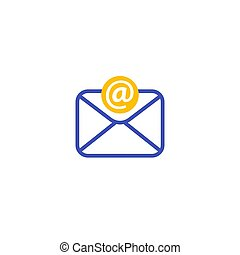 email, incoming mail icon on white