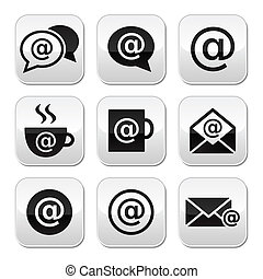 Email, internet cafe, wifi buttons