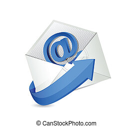 email. mail. contact us illustration design over a white...
