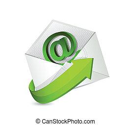 email., mail., contactar-nos, ilustração