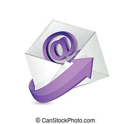 email. mail illustration design