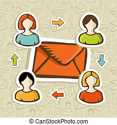 Email marketing campaign concept background - Email...