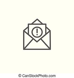 Email marketing campaigns icon w envelope and exclamation point