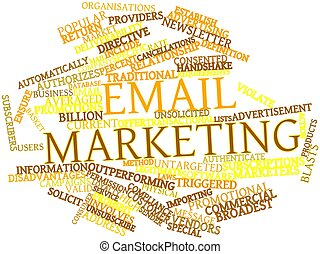 Email marketing - Abstract word cloud for Email marketing...
