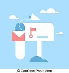 email marketing - Abstract vector illustration of email...