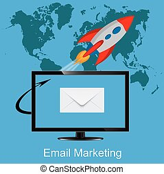 email marketing concept, business
