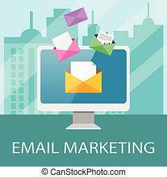 Email Marketing Concept - Email marketing concept with...