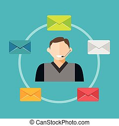 Email marketing concept illustration.