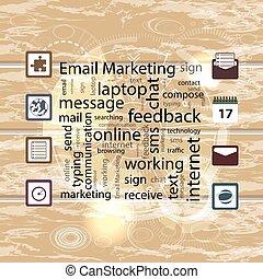 Email marketing concept. Vector illustration