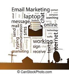 Email marketing. concept. Vector illustration