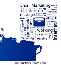 Email marketing. concept. Vector illustration