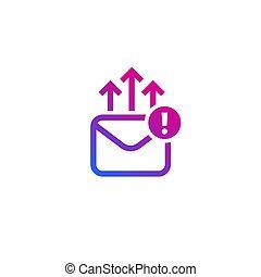 email marketing icon on white