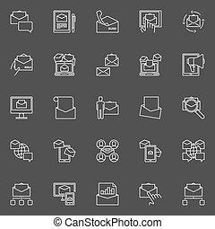 Email Marketing icons set