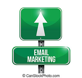 email marketing sign illustration design