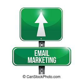 email marketing sign illustration design