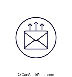email marketing, vector line icon