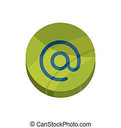 email message mail communication icon. Vector graphic