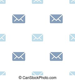 Email message seamless blue on white pattern background mail document message correspondence