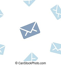 Email message seamless blue pattern on white background mail document letter correspondence