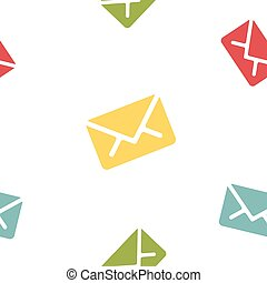 Email message seamless colored pattern on white background mail document letter correspondence