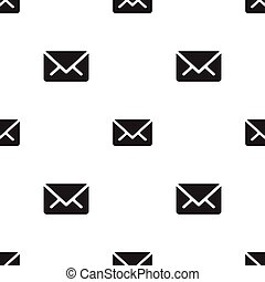 Email message seamless dark  on white pattern background mail document message correspondence