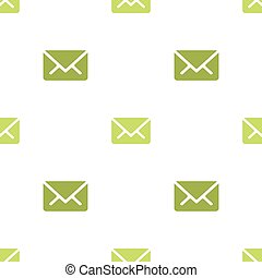 Email message seamless green on white pattern background mail document message correspondence