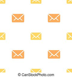 Email message seamless orange on white pattern background mail document message correspondence