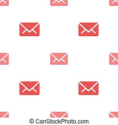 Email message seamless red on white pattern background mail document message correspondence