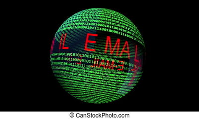 Email on on binary data rotating sphere