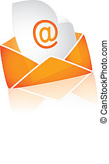 email on white background