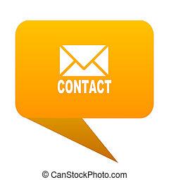 email orange bulb web icon isolated.