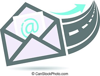 Email out to the Internet Highway Logo