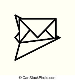 email outline icon. vector illustration. Isolated on white background.