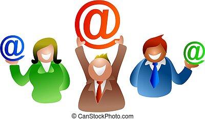 email, pessoas