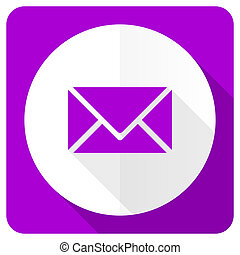 email pink flat icon post sign