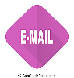 email pink flat icon