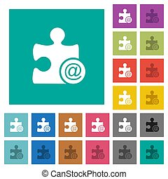 Email plugin square flat multi colored icons