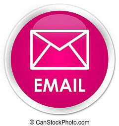 Email premium pink round button