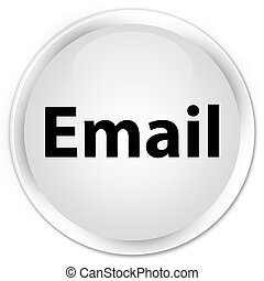 Email premium white round button