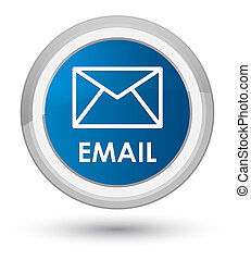Email prime blue round button