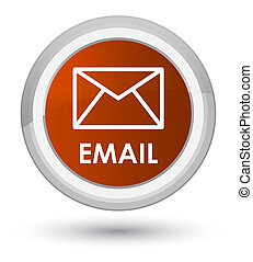 Email prime brown round button